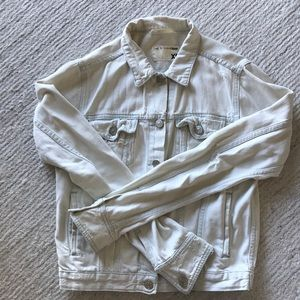 Rag & Bone Distressed Light Denim Jacket